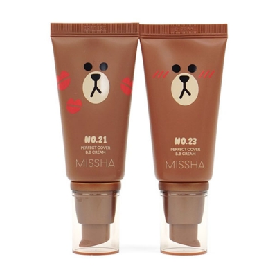 Kem nền Missha Perfect Cover BB Cream Line Friends Edition