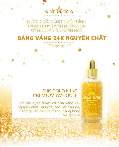 Tinh Chất Serum 24k Gold Nine Premium Ampoule 99% Pure Gold