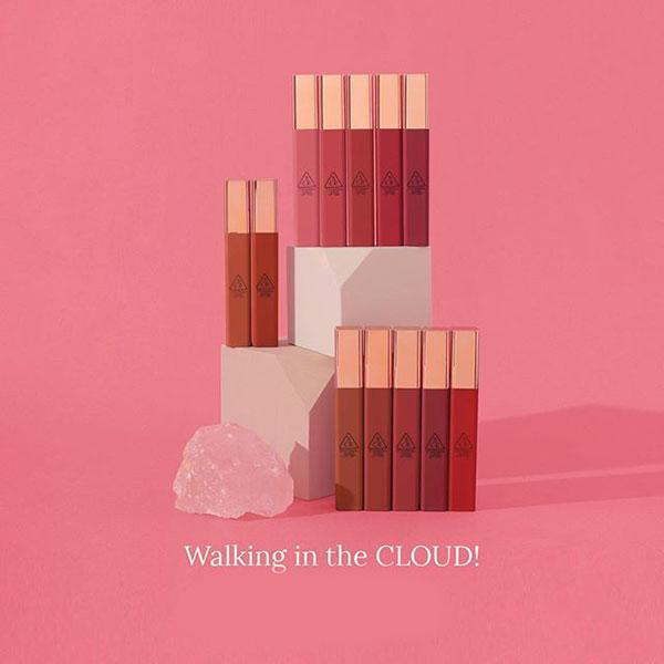 [ HOT ] Son Kem 3CE Cloud Lip Tint Siêu Lì, Mềm Mịn