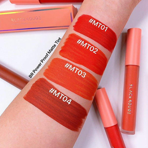 Son Kem Black Rouge All Day Power Proof Matte Tint Siêu Mềm Mịn