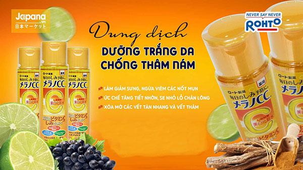 Melano CC Whitening Lotion - Dung Dịch Dưỡng Trắng Da Vitamin C 170ml