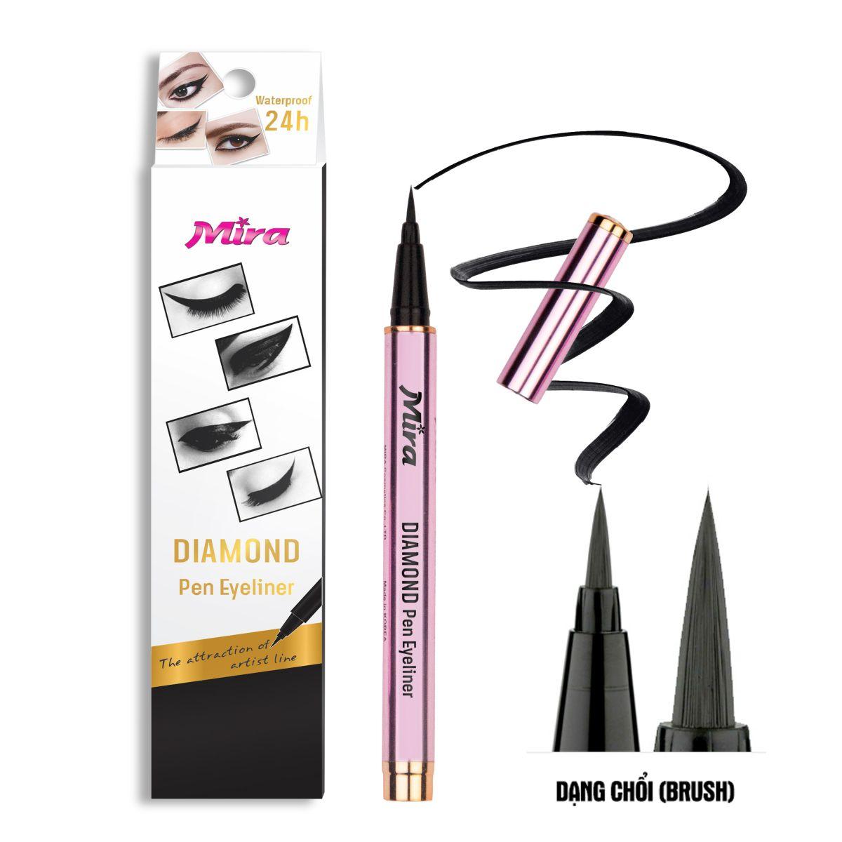 Bút Kẻ Mắt Không Trôi Mira Diamond Pen Eyeliner