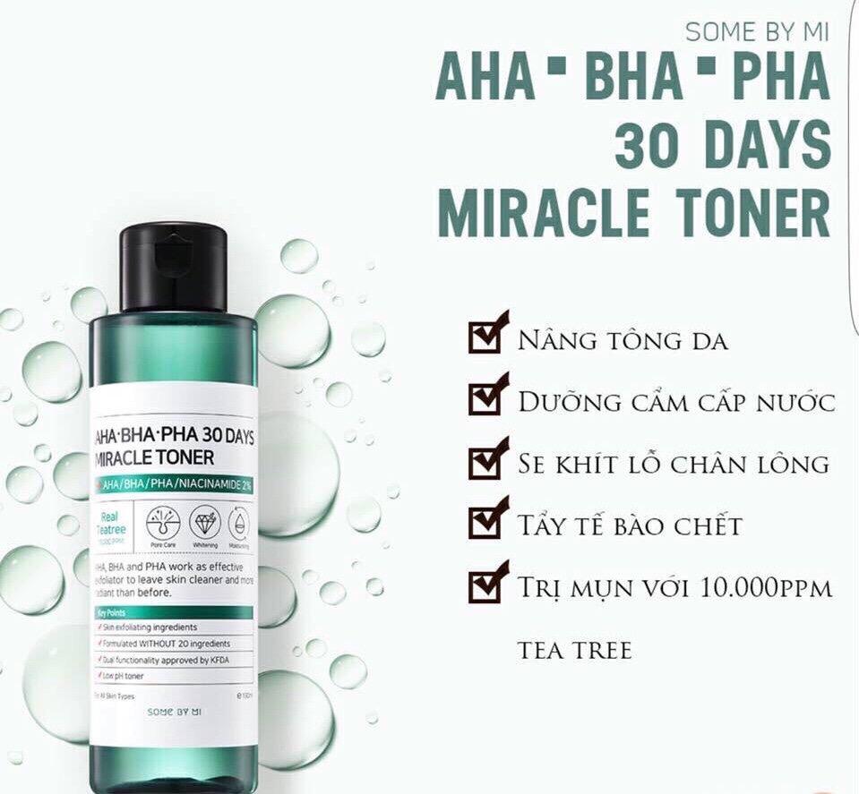 Bộ Chăm Sóc Da Some By Mi AHA-BHA-PHA 30 Days Miracle Travel Kit