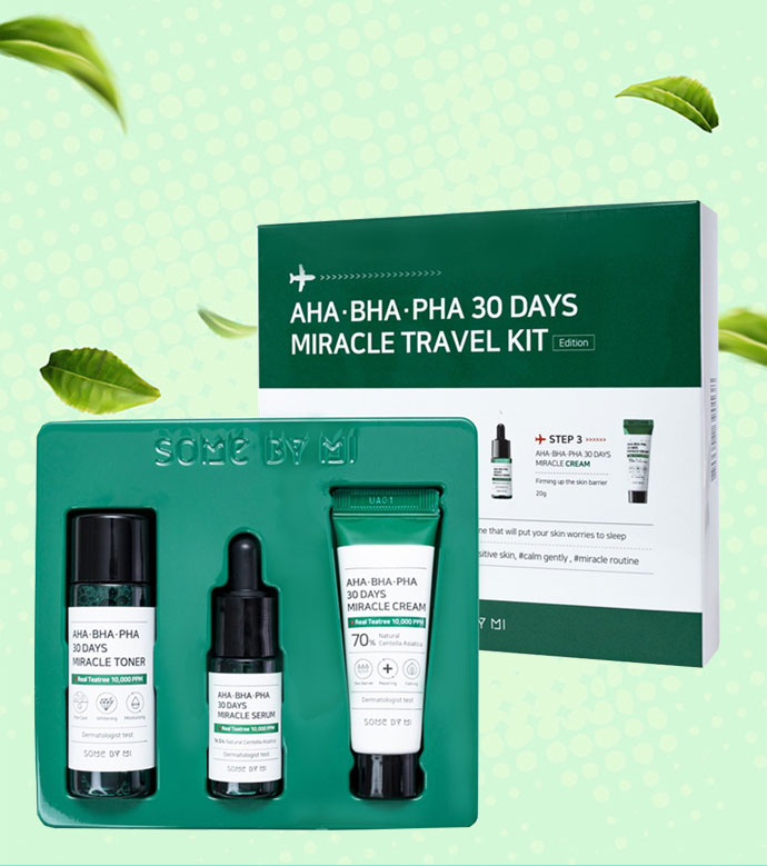 Bộ Chăm Sóc Da Some By Mi AHA-BHA-PHA 30 Days Miracle Travel Kit