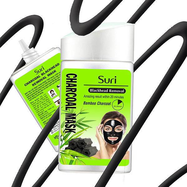 Suri Blackhead Removal Bomboo Charoal Mask
