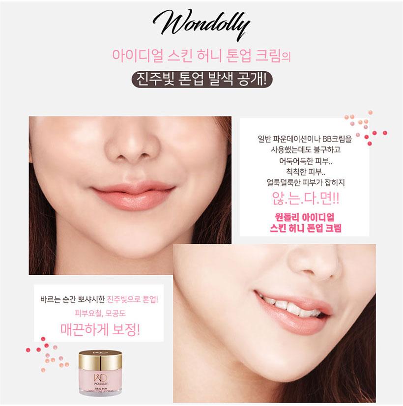 Kem Dưỡng Trắng Da Sáng Bật Tone Chiết Xuất Mật Ong Wondolly Ideal Skin Honey Tone Up Cream