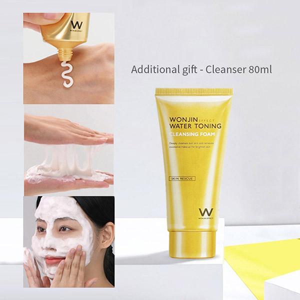 Sữa Rửa Mặt Wonjin Water Toning Cleansing Foam 80ml