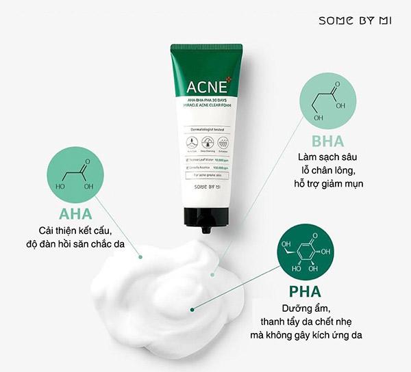 Some By Mi AHA-BHA-PHA 30 days Miracle Acne Clear Foam