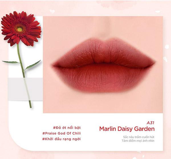 """Son Kem Black Rouge Air Fit Velvet Tint Ver 6 Blueming Garden chào đón hè với phiên bản siêu bắt mắt. Black Rouge thêm vào bộ sưu tập son môi mới mang tên """"Blueming Garden""""."""