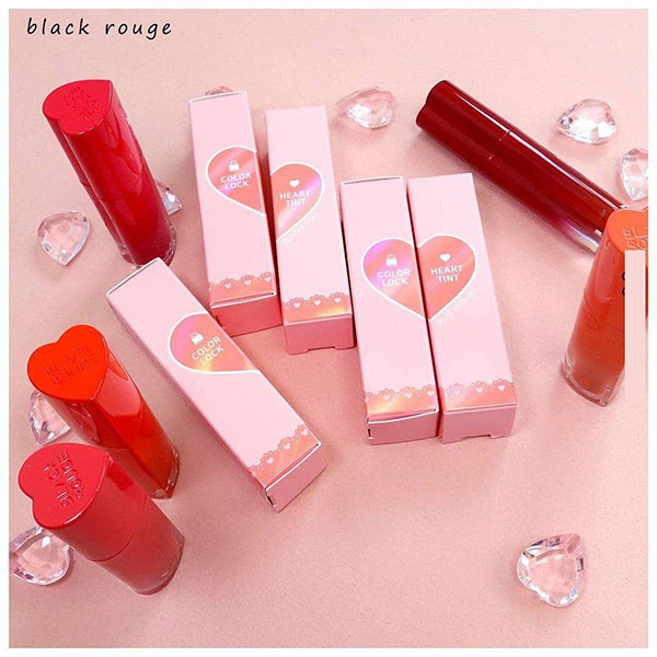 Son Kem Black Rouge Color Lock Heart Tint Siêu Lì