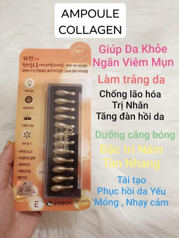 Viên Serum JM Collagen Multi Vita Capsule Ampoule Whitening Care