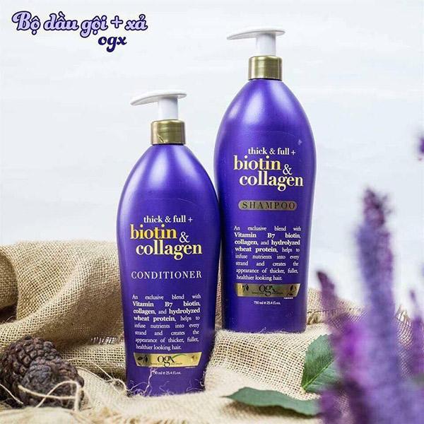 Dầu Xả OGX Thick & Full Biotin & Collagen Conditioner