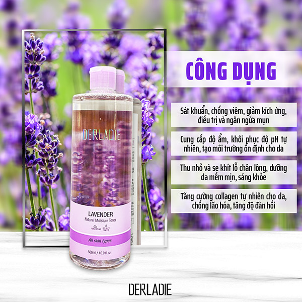 Nước Hoa Hồng Derladie Lavender Natural Moisture Toner