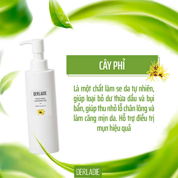 ​ Sữa Rửa Mặt Derladie Witch Hazel Cleansing Gel Dạng Gel  Click and drag to move ​