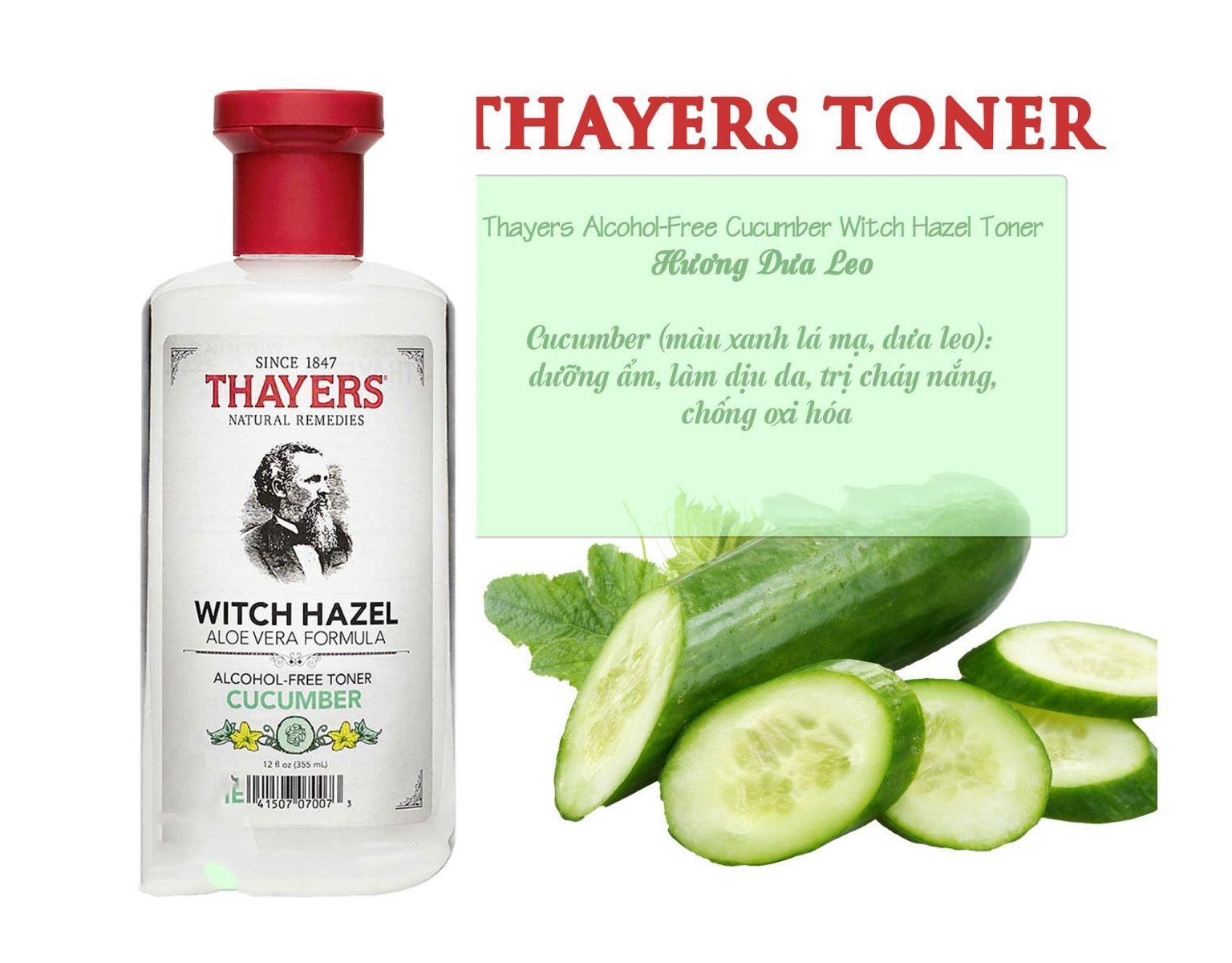 Nước Hoa Hồng Thayers Witch Hazel Water