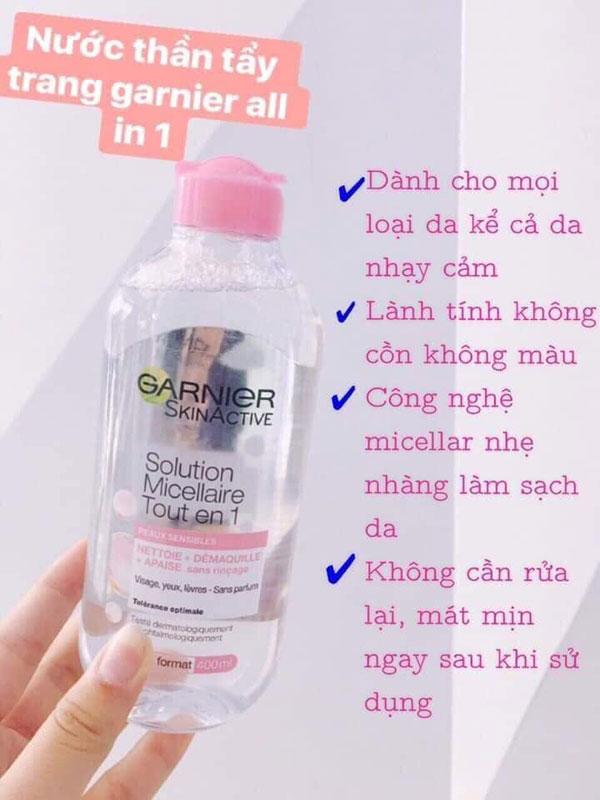 Nước Tẩy Trang Garnier Skinactive Solution Micellaire Tout En 1