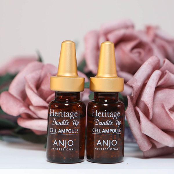 Tinh Chất Serum Anjo Heritage Double Up Cell Ampoule giúp cải thiện làn da dễ dàng chỉ sau 30 ngày với nhiều thành phần và công dụng gây ngạc nhiên chỉ trong 1 lọ serum nhỏ. Hãy tự mình cảm nhận sự khác biệt rõ rệt sau khi sử dụng sản phẩm nhé!