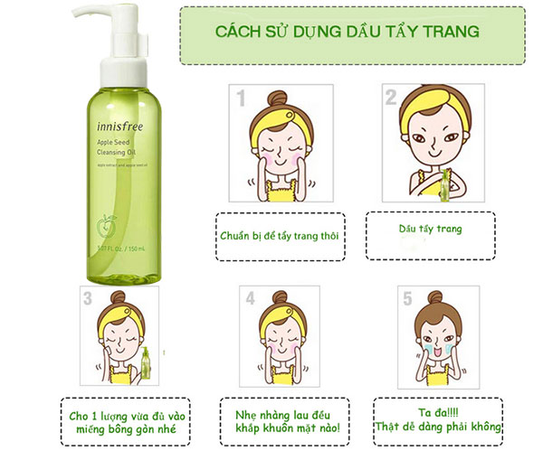 Dầu Tẩy Trang Innisfree Apple Seed Cleansing Oil 150ml