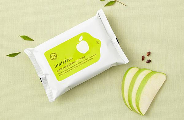 Khăn Tẩy Trang Innisfree Apple Seed Lip & Eye Makeup Remover Tissue