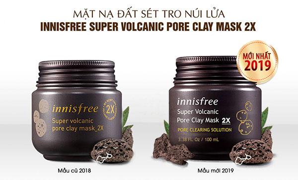 Innisfree Super Volcanic Pore Clay Mask 2X có thành phần chính từ tinh chất của các hạt tro núi lửa mới, với 6,020mg đất sét từ dung nham phun trào của núi lửa đảo Jeju, rất có hiệu quả trong việc loại bỏ bã nhờn và các tạp chất khác.