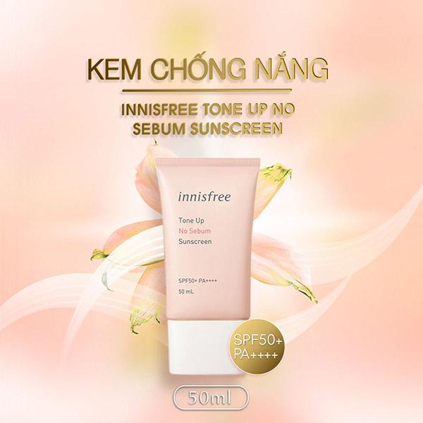 Kem Chống Nắng Innisfree Tone Up No Sebum Sunscreen SPF35/PA+++