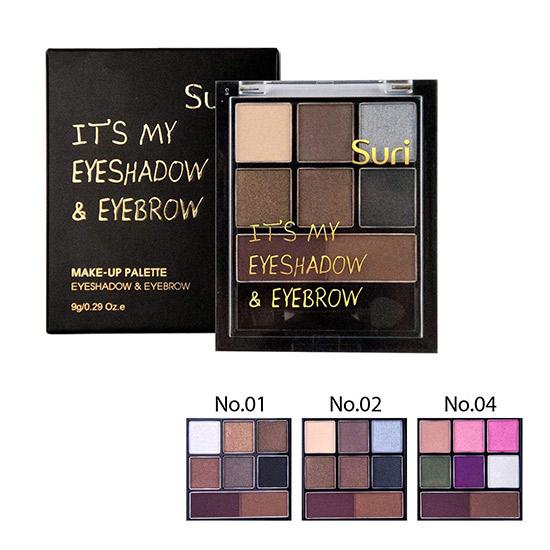 Bộ Trang Điểm 2in1 – Kẻ Mày Và Mắt Suri Make-Up Palette – Eyeshadow & Eyebrow