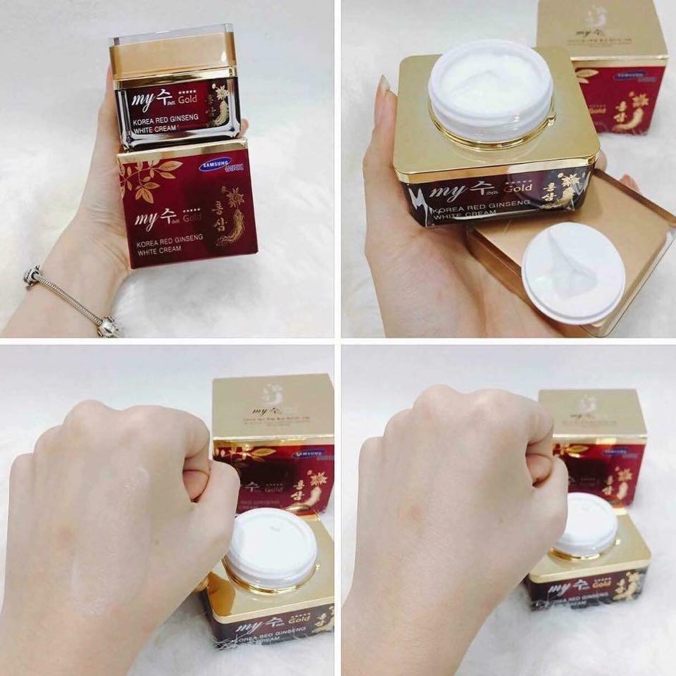Kem Hồng Sâm Dưỡng Trắng Da My Gold Korea Red Ginseng White Cream 50ml
