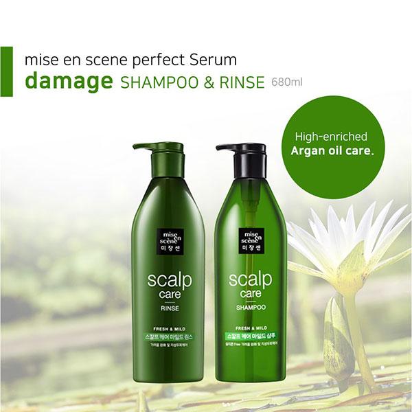 Dầu Gội - Dầu Xã Mise En Scene Scalp Care Shampoo Freshh & Mild