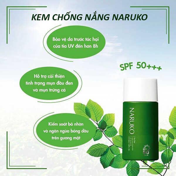 Kem Chống Nắng Naruko Tea Tree Anti – Acne Sunscreen SPF 50+++
