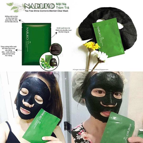 Mặt Nạ Naruko Tea Tree Shine Control Blemish Clear Mask Tinh Chất Tràm Trà
