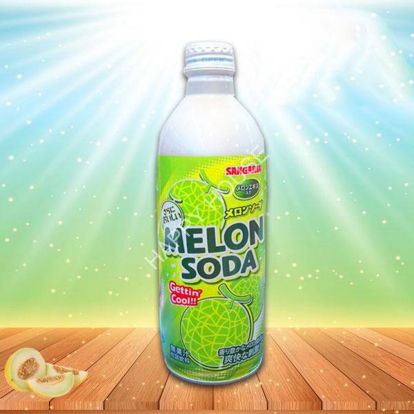 Nước Soda Vị Dưa Lưới Sangaria Melon Soda 500ml
