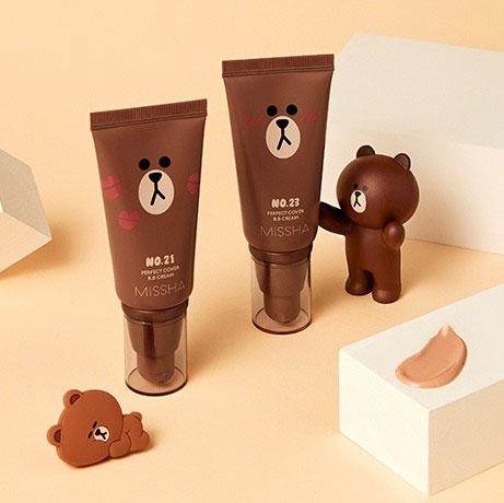 Kem nền Missha Perfect Cover BB Cream Line Friends Edition