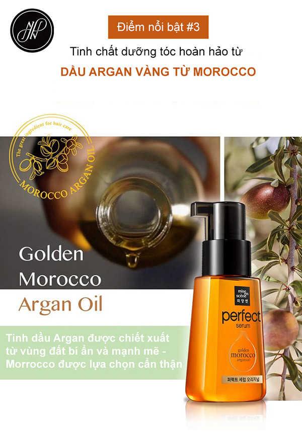 Serum Mise En Scene Golden Morocco Argan Oil  Phục Hồi - Dưỡng Tóc Hư Tổn