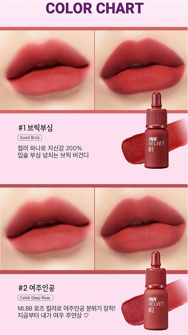Son Kem Lì Peripera Ink Velvet Lip Tint