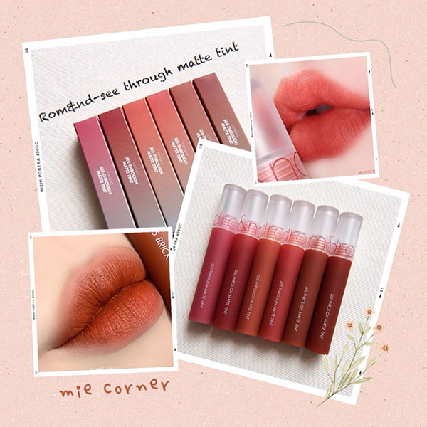 Son Kem Romand See Through Matte Tint Siêu Lì Mịn