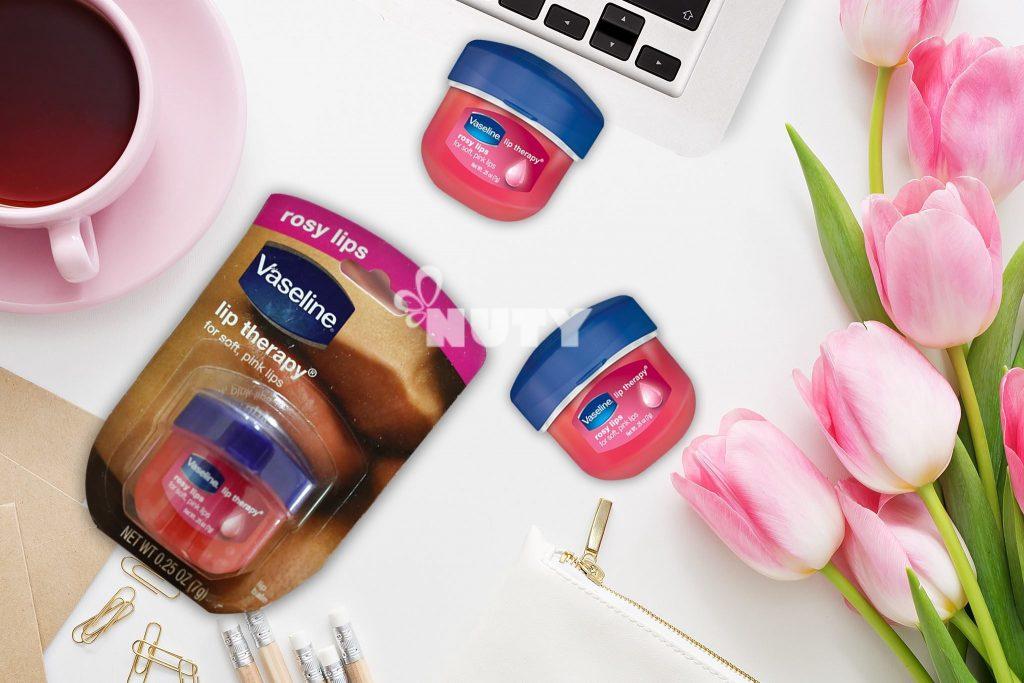 Sáp Dưỡng Vaseline Môi Mềm, Ửng Hồng Tự Nhiên Rosy Lips Vaseline Therapy