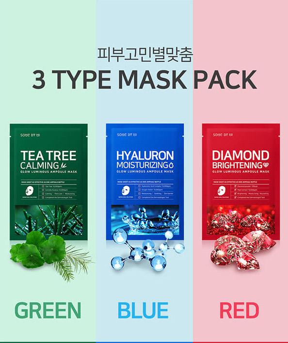 Mặt Nạ Some By Mi Glow Luminous Ampoule Mask Dưỡng Trắng Da