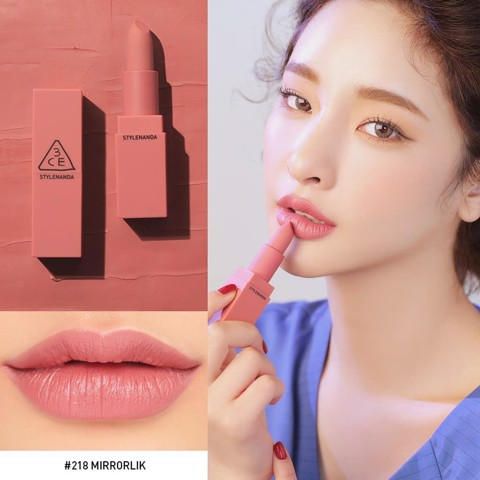 Son lì 3CE Mood Recipe Matte Lip Color #218 Mirrorlike