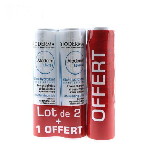 Son Dưỡng Ẩm Cho Môi Bị Tổn Thương Và Mất Nước Bioderma Moisterising stick Damaged And Dehydreted Lips Soothes And Repairs ( MUA 2 TẶNG 1)