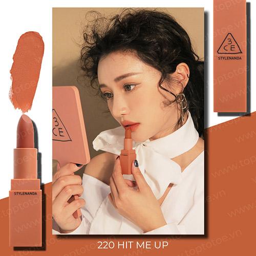 Son lì 3CE Mood Recipe Matte Lip Color #220 Hit Me Up