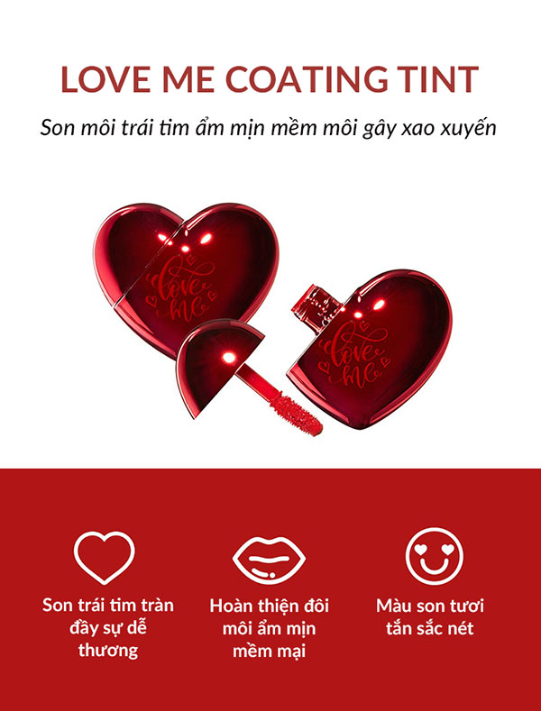 Son Môi Hình Trái Tim The SAEM Love Me Coating Tint