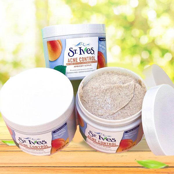 Tẩy tế bào chết St. Ives Acne Control Apricot Scrub