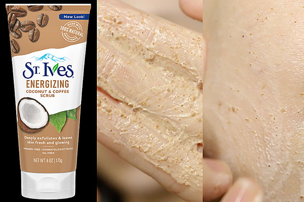 st.ives energizing coconut & coffee scrub