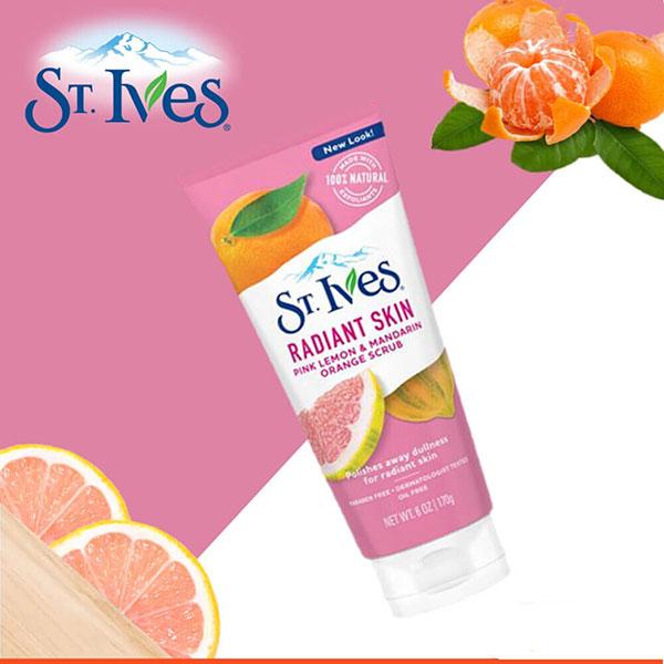 Sữa Rửa Mặt St.Ives Radiant Skin Pink Lemon & Mandarin Orange Scrub