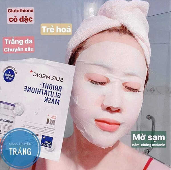 Mặt Nạ Sur.Medic Bright Glutathione Mask