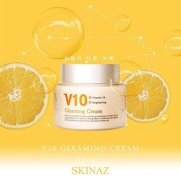 Kem Dưỡng Da Skinaz V10 Gleaming Cream 100ml