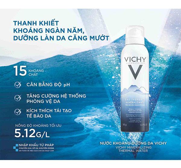 Nước Xịt Khoáng Vichy Mineralizing Thermal Water 150ml