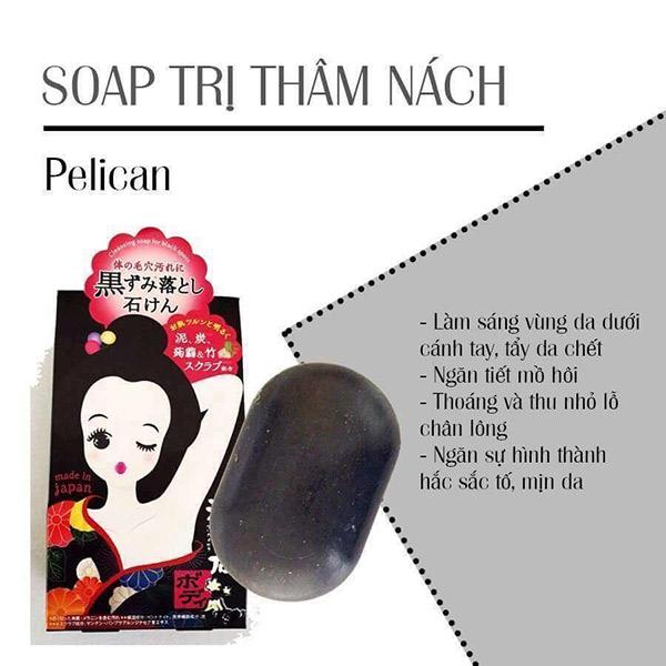 Xà Phòng Pelican Cleansing Soap For Black Spots Giảm Thâm Vùng Da Dưới Cánh Tay