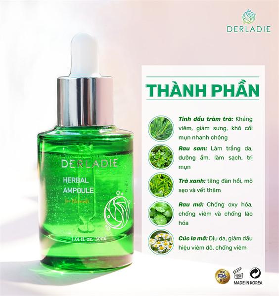 Thành phần lành tính, không cồn, không hương liệu, không paraben, không hóa chất gây hại cho làn da