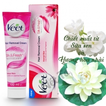Kem Tẩy Lông Veet Normal Skin Lotus Milk And Jasmine Fragrance 100ml